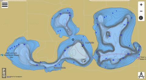 Lake East Lost Fishing Map - i-Boating App