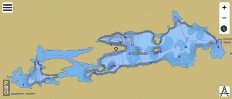 Lake Homer Fishing Map - i-Boating App