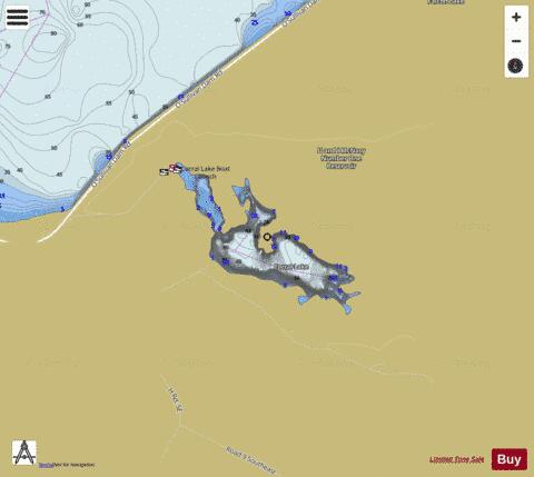 Corral Lake,  Grant County Fishing Map - i-Boating App