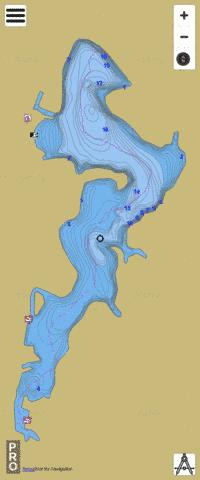 FINDLEY LAKE Fishing Map - i-Boating App