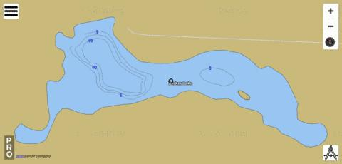 Barker Lake Fishing Map - i-Boating App