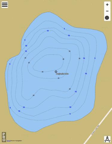Benjamin Lake Fishing Map - i-Boating App
