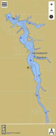 Lake Roaming Rock Fishing Map - i-Boating App