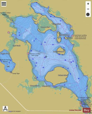 LAKE KISSIMMEE Fishing Map - i-Boating App