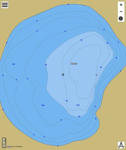 PJ Lake Fishing Map - i-Boating App