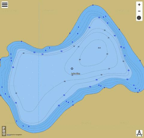 Lake Allen Fishing Map - i-Boating App
