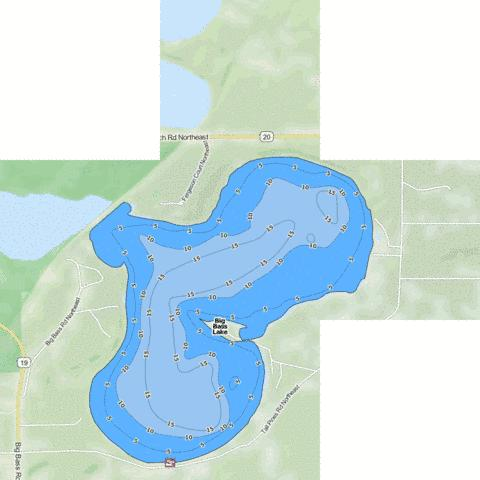 Big Bass (east basin) Fishing Map - i-Boating App