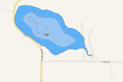 Merwin Fishing Map - i-Boating App