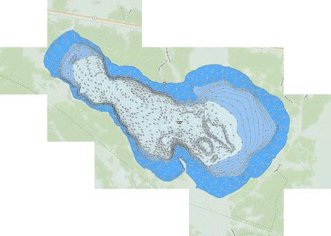 Portage Fishing Map - i-Boating App