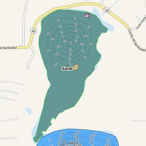 Sand Fishing Map - i-Boating App