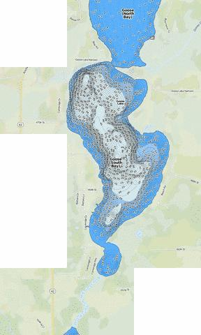 Goose (South Bay) Fishing Map - i-Boating App