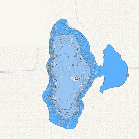 Lindberg Fishing Map - i-Boating App