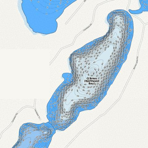 O'Brien (Northeast Bay) Fishing Map - i-Boating App
