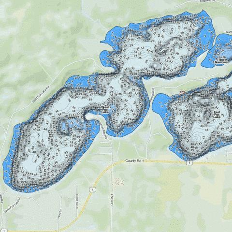 West Fox Fishing Map - i-Boating App