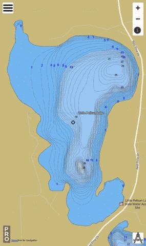 Little Pelican Fishing Map - i-Boating App