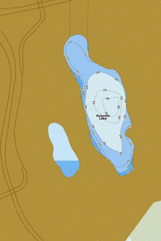 Augusta Fishing Map - i-Boating App