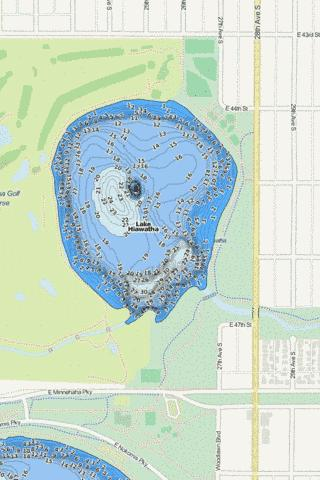 Hiawatha Fishing Map - i-Boating App