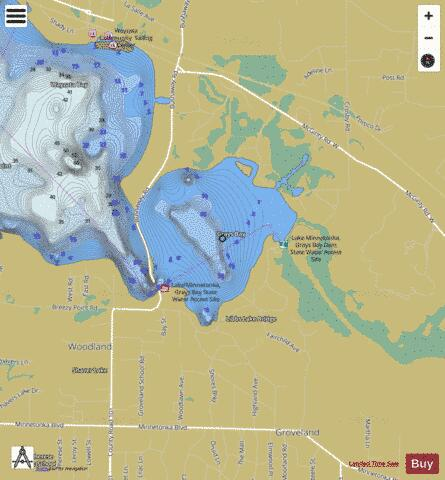 Minnetonka-Grays Bay Fishing Map - i-Boating App