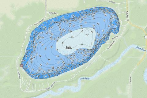 Duck Fishing Map - i-Boating App