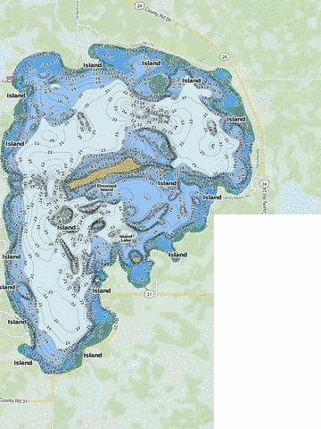 Island Fishing Map - i-Boating App