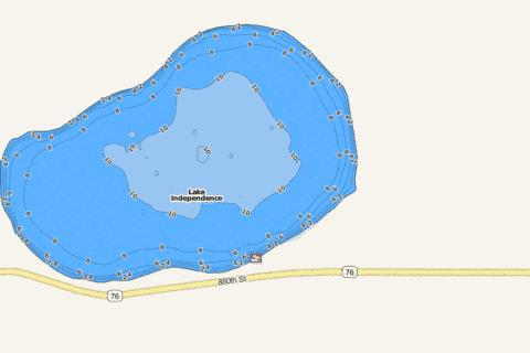 Independence Fishing Map - i-Boating App