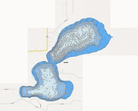 Lewis Fishing Map - i-Boating App