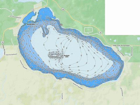 Andrew Fishing Map - i-Boating App