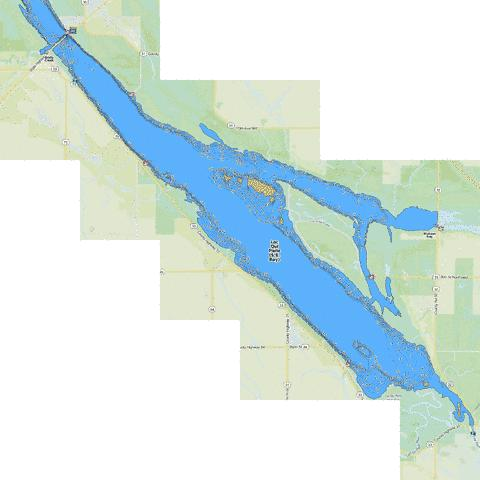 Lac Qui Parle (S.E. Bay) Fishing Map - i-Boating App