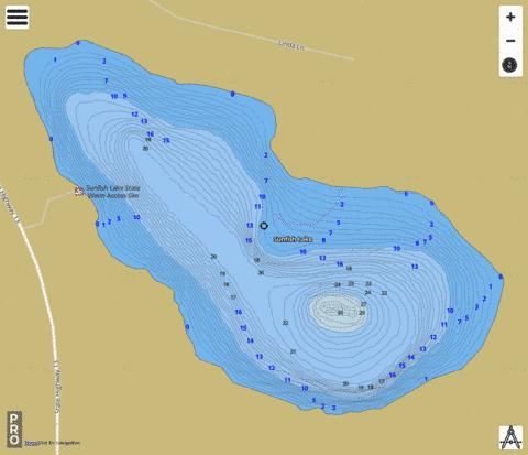 Sunfish Fishing Map - i-Boating App