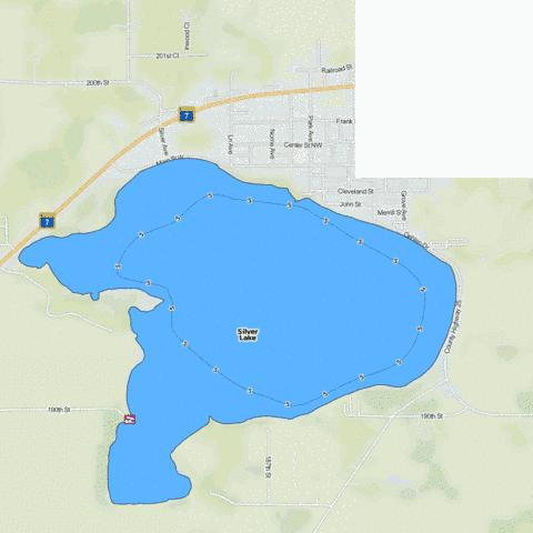 Silver Fishing Map - i-Boating App