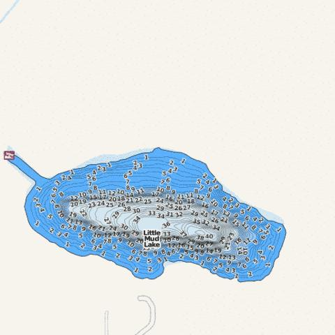 Little Mud Fishing Map - i-Boating App