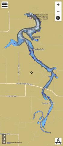 Zumbro Fishing Map - i-Boating App