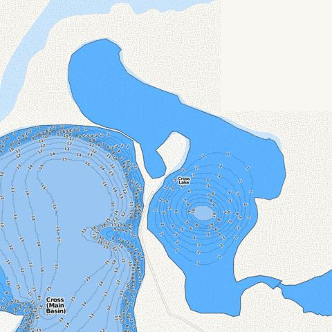 Cross (North East Bay) Fishing Map - i-Boating App