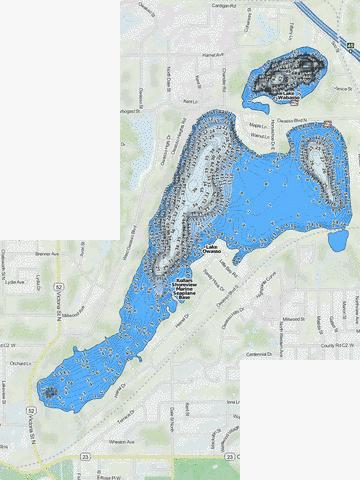 Owasso Fishing Map - i-Boating App