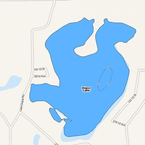 Diann Fishing Map - i-Boating App
