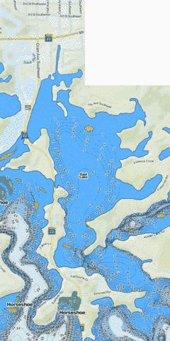 Cedar Island (East Lk) Fishing Map - i-Boating App