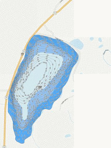 Cedar Fishing Map - i-Boating App