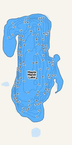 Unnamed (Maple Marsh) Fishing Map - i-Boating App