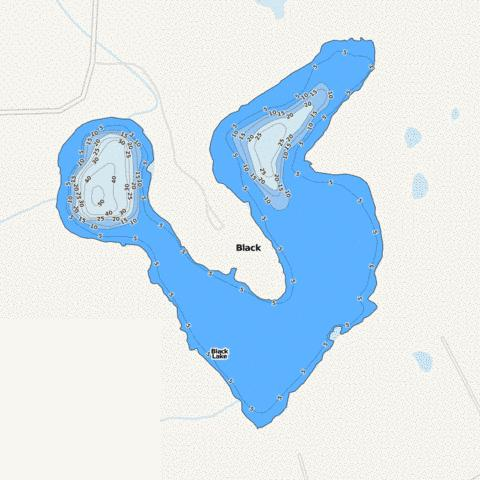 Black Fishing Map - i-Boating App