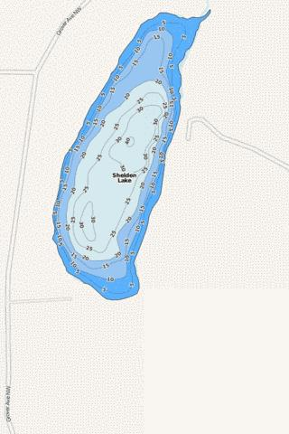 Sheldon Fishing Map - i-Boating App