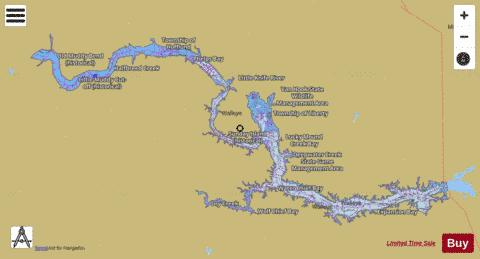 Sakakawea, Lake Fishing Map - i-Boating App