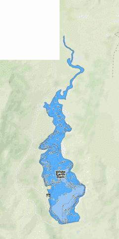 White Earth Dam Fishing Map - i-Boating App