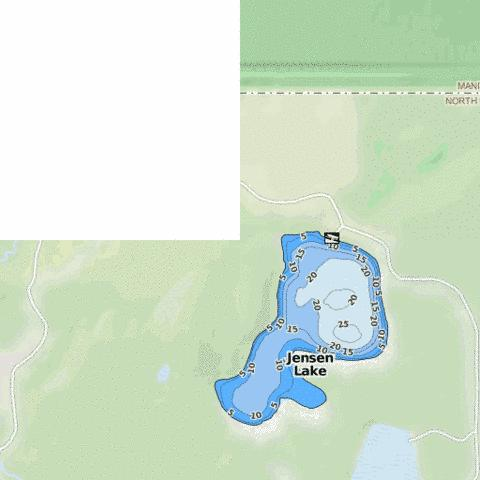 Jensen Lake Fishing Map - i-Boating App