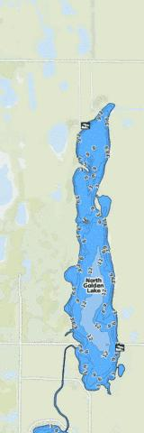 North Golden Lake Fishing Map - i-Boating App