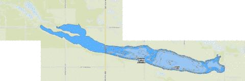 Goose Lake  (Wells) Fishing Map - i-Boating App