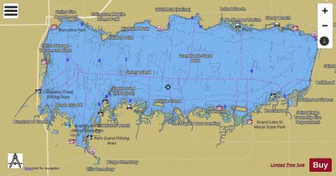 Grand Lake St. Mary's Fishing Map - i-Boating App