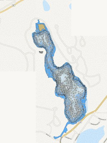 Punderson Fishing Map - i-Boating App