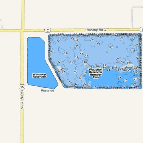 Wauseon Fishing Map - i-Boating App