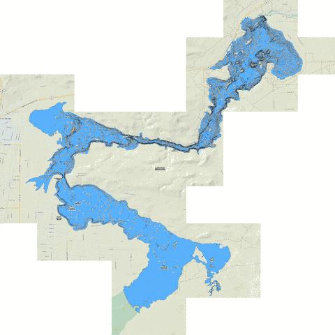 Lahontan Reservoir Fishing Map - i-Boating App
