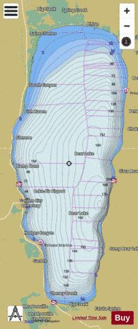 Bear Lake Fishing Map - i-Boating App